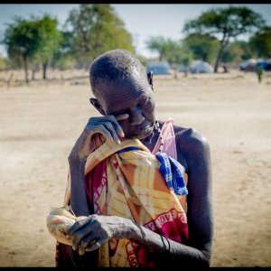 Lo spettro della fame. Donna sud sudanese
