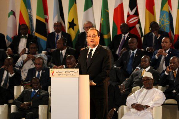 François Hollande, Presidente della Repubblica francese al vertice di Bamako