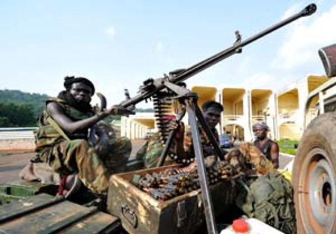 Gruppo di uomini armati in Centrafrica