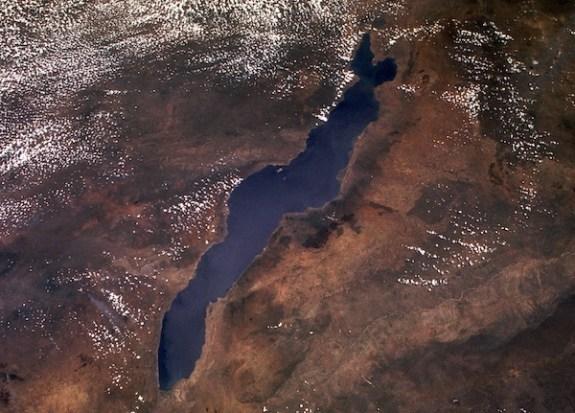 Una foto satellitare del lago Nyassa
