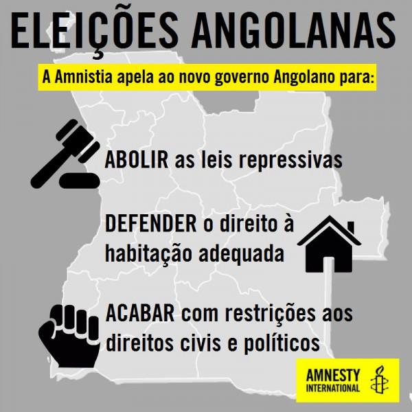 Appello di Amnesty Angola al nuovo governo