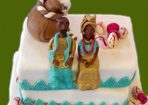 Torta nuziale africana