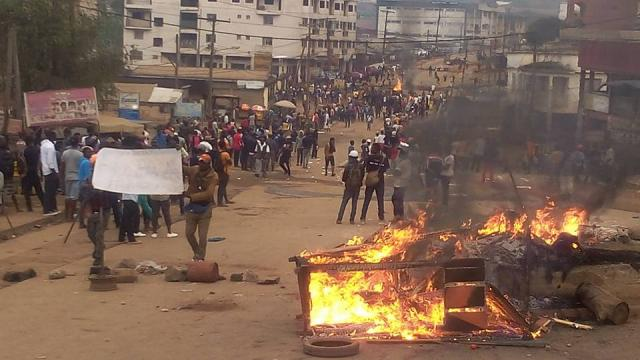 Manifestazione degli anglofoni a Bamenda, Camerun