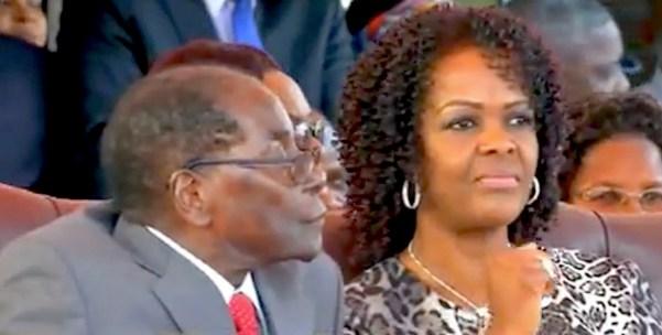 Robert Mugabe e la moglie Grace