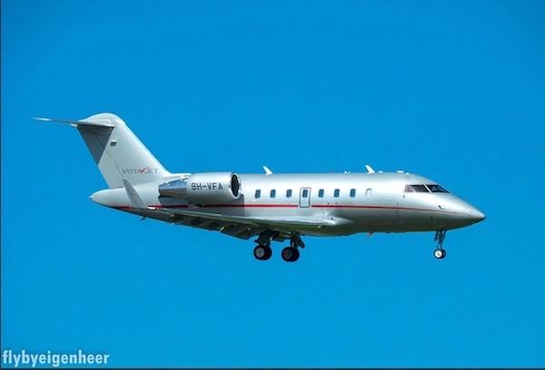 Bombardier Challanger 605 della VistaJet
