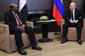 Omar al Bashir, presidente del Sudan e Vladimir Putin, presidente russo