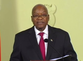Jacob Zuma in diretta televisiva annuncia le sue dimissioni da presidente della repubblica