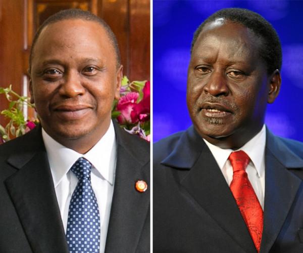 Uhuru Kenyatta (sinistra) e Raila Odinga