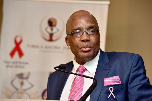 Aaron Motsoaledi, ministro della sanità del Sudafrica