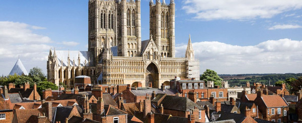 La città di Lincoln, capitale del Lincolnshire dove a sedela baronia dei Monson