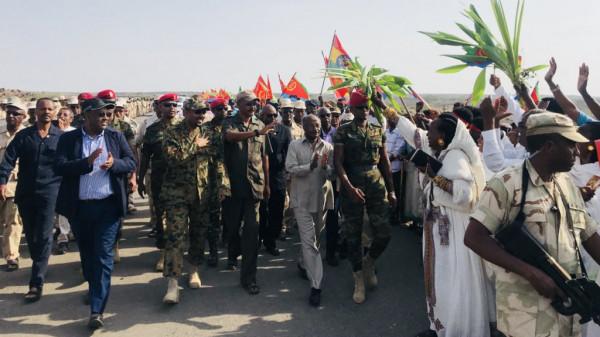 Riapertura del valico di Bure in presenza del leader eritreo e del primo ministro etiopico