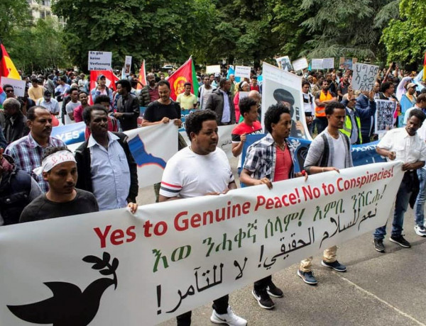 A big demonstration against the Eritrean Government was organized in Geneva Aug 31st