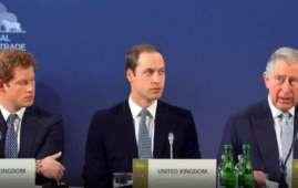 Il principe Harry, il principe William e il padre Carlo, principe di Galles (Courtesy Amnesty International)