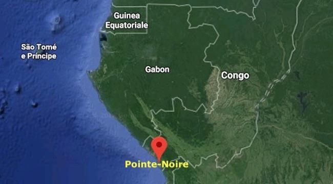 Mappa del Congo-B e la collocazione di Pointe-Noire (Courtesy Google Maps)