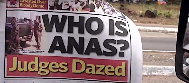 """Uno dei titoli dei giornali dell'inchiesta sulla magistratura """"Chi è Anas? I giudici frastornati"""""""