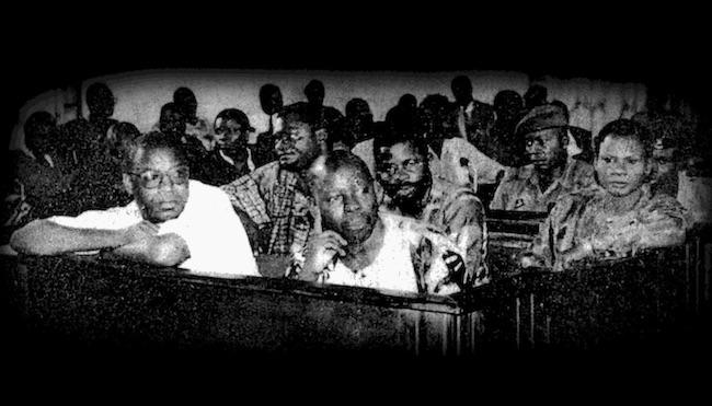 """Gli imputati del processo """"Ogoni Nine"""" (Courtesy Amnesty International)"""