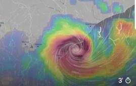 Ciclone Idai accanto alle coste mozambicane