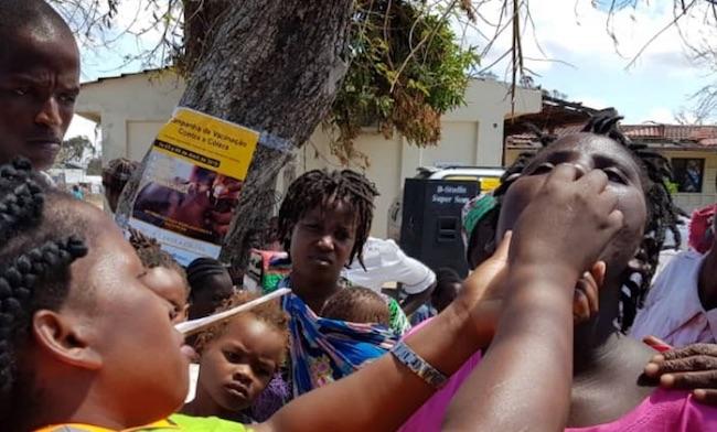 Vaccinazioni e contro il colera in Mozambico (Foto: Courtesy WHO)