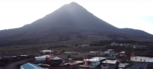 Uno dei vulcani dell'arcipelago di Capo Verde