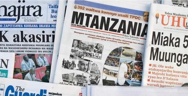 Alcune testate tanzaniane (Courtesy Amnesty International)