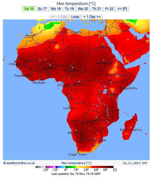 africa caldissima aggiornata al 16nov2019