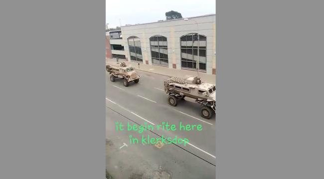 L'esercito arriva a Klerkdorp, 170km a ovest di Johannerburg