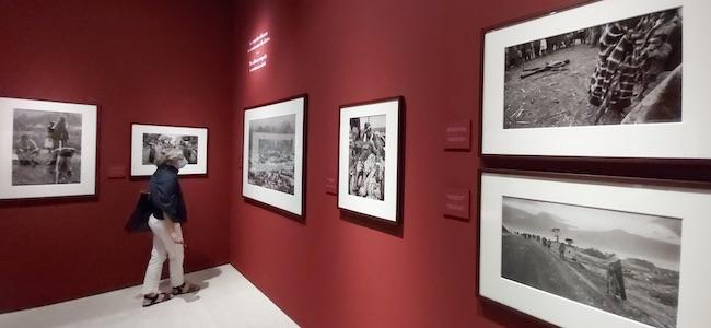 """Dalla mostra """"Exodus"""" di Sebastião Salgado. In alto a destra: un uomo muore di colera sotto gli occhi di una folla traumatizzata"""