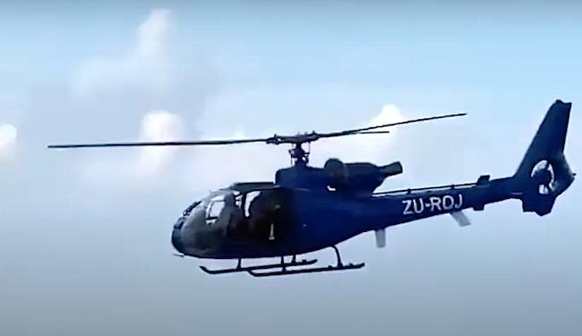 Elicottero di fabbricazione francese Gazelle, utilizzato da DAG contro il terrorismo jihadista a Cabo Delgado