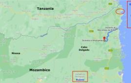 Violenza jihadista, mappa di Cabo Delgado