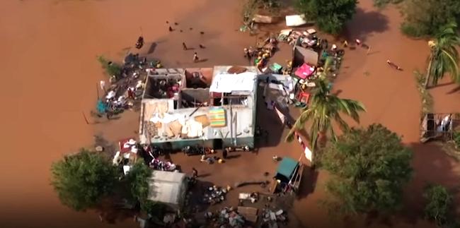 Casa alluvionata a causa del ciclone tropicale Eloisa in Mozambico