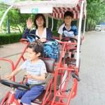 [北京観光]朝陽公園で四人乗り自転車