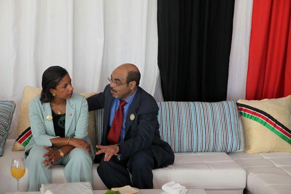 Susan Rice and Meles Zenawi