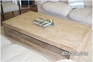 used solid acacia wood coffee table