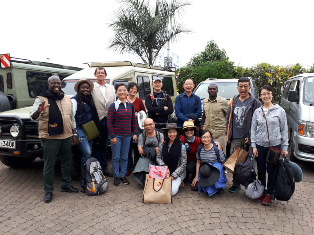 The excitement at the start of the great East Africa Safari