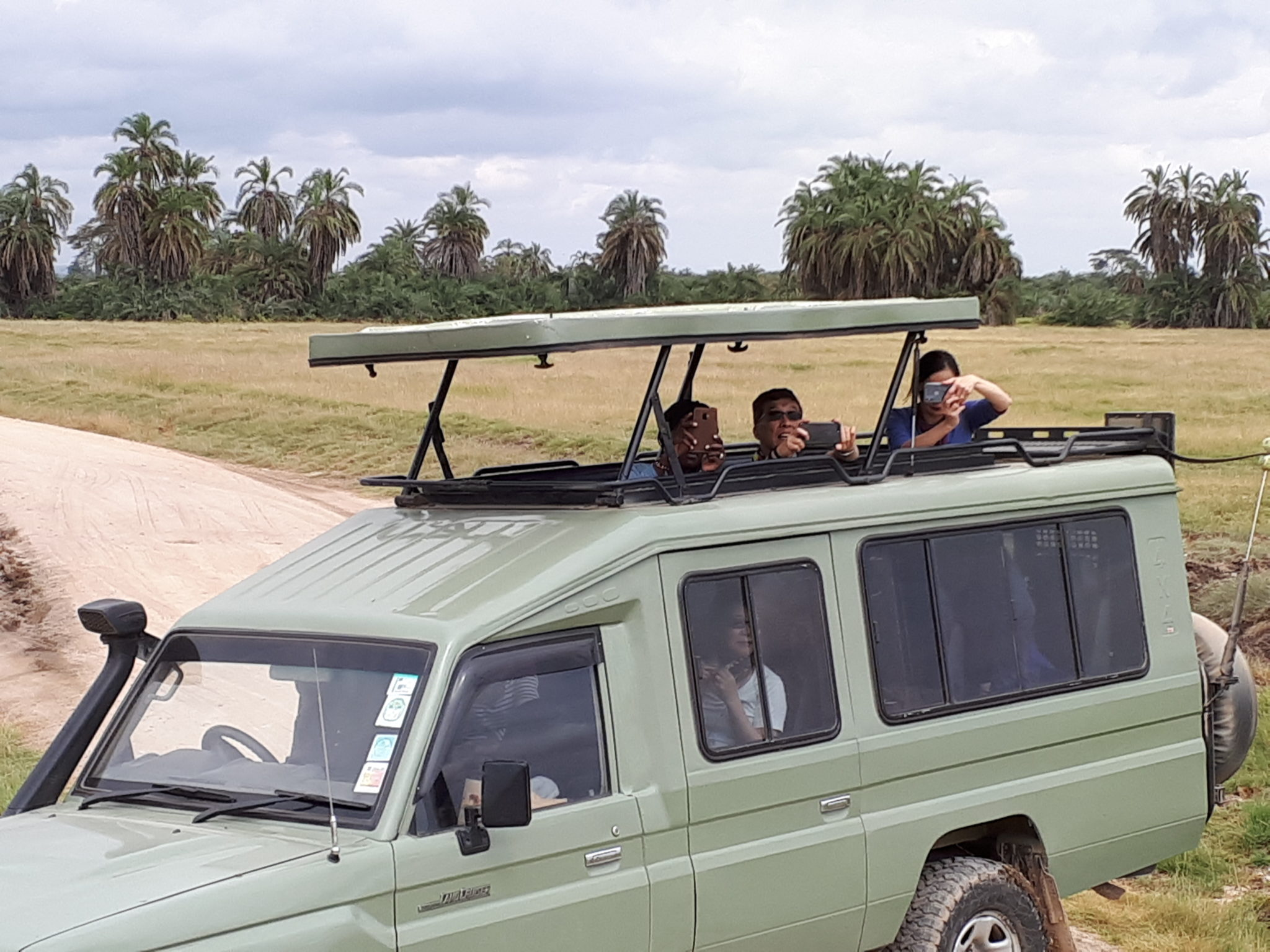 The excitement of the first Safari