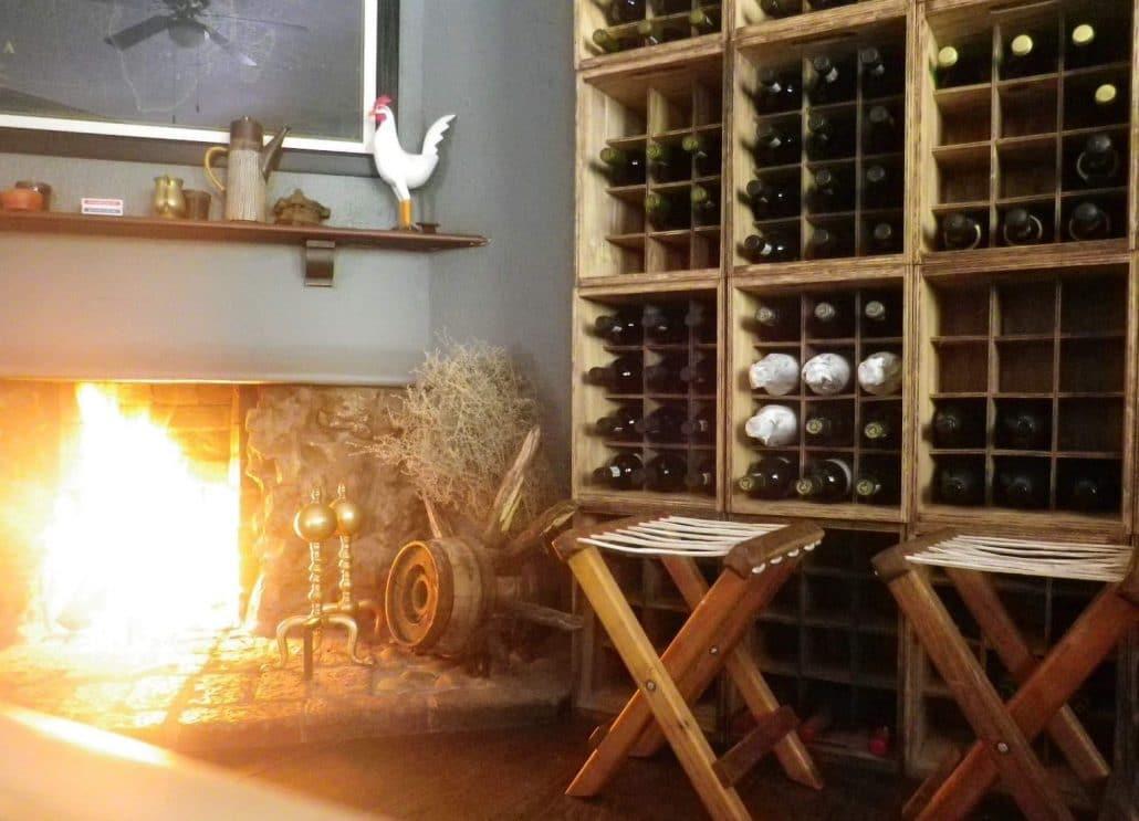 Wine selection at Winterberg Inn