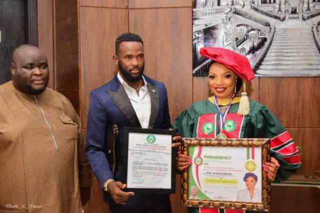 TNKAY Music boss gets two International Awards from Ooni of Ife