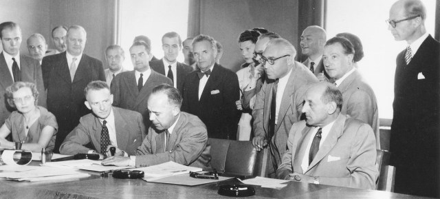The 1951 Refugee Convention is signed in Geneva, Switzerland on August 1, 1951.