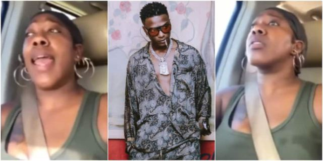 The Black American woman expressed love for WIzkid's Ojuelegba song