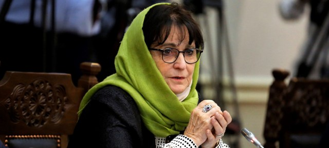 Deborah Lyons, Special Representative of the Secretary-General and head of the UN Assistance Mission in Afghanistan (UNAMA).