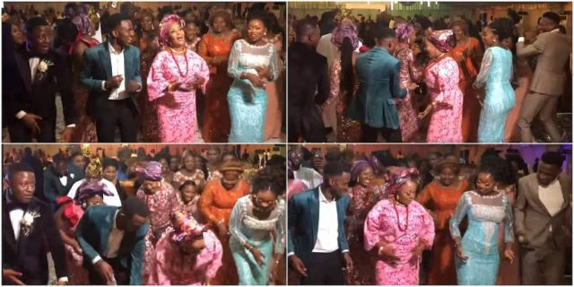 The groom's mum and some guests wowed many with their dancing moves