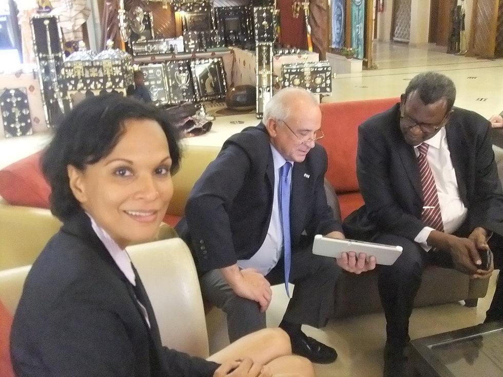 Leandro Negre with Mali Hockey Representatives
