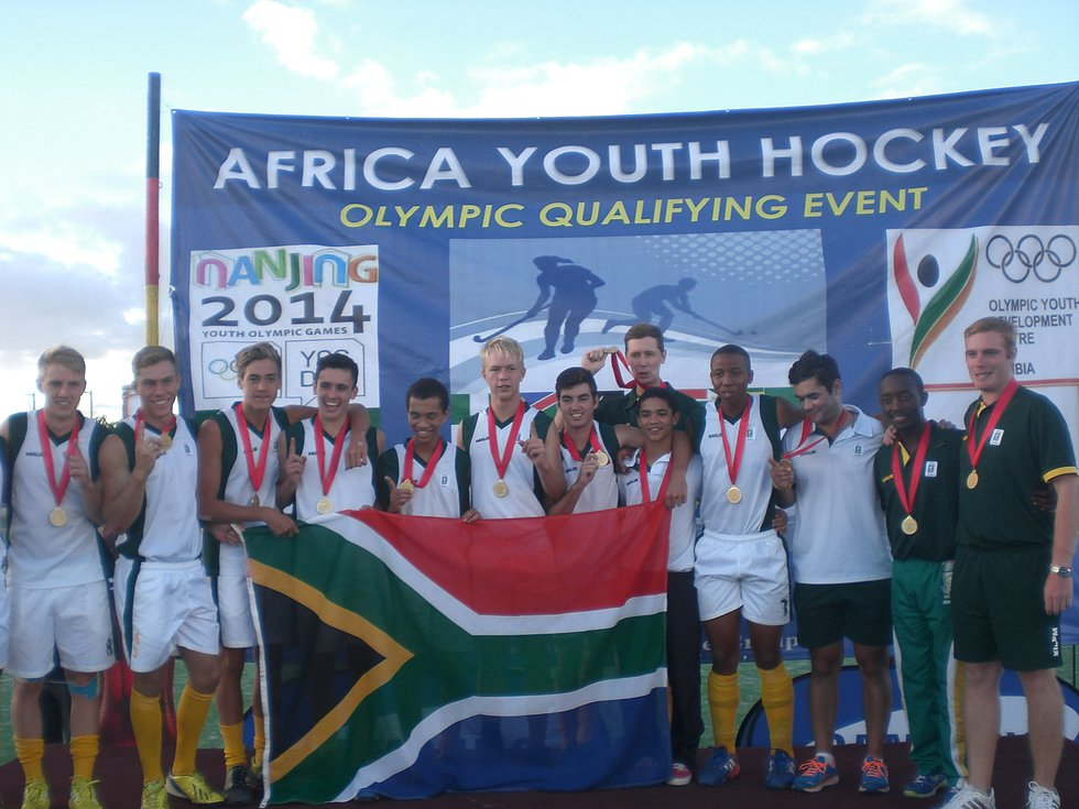 Youth Olympic Games Qualifiers-March 2014- South African team-Winners of the tournament