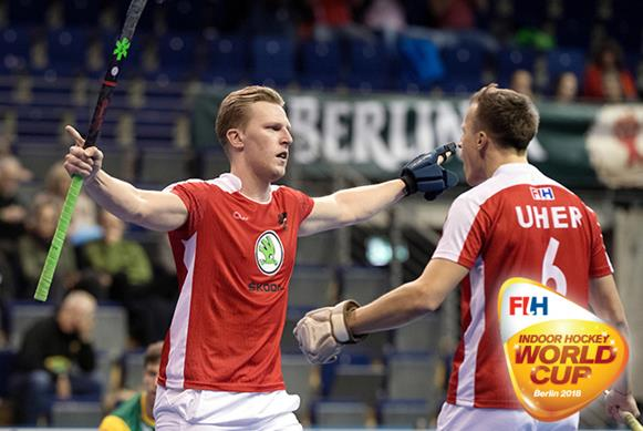 Germany and Austria dominate on Day One at the 5th Men's Indoor Hockey World Cup in Berlin