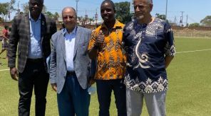 Minister of Youth & Sports Ulemu Msungama and the African Hockey Federation President & FIH EB member Seif Ahmed