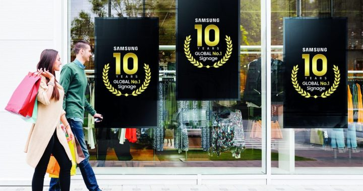 Samsung marque une décennie en tête des ventes mondiales des dispositifs d'Affichage Numérique