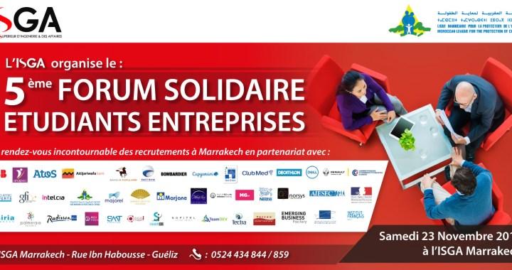 L'ISGA Marrakech renforce son engagement citoyen et annonce la 5ème édition de son forum entreprises solidaires