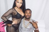 Pictures Of Nicki Minaj getting Cozy With Meek Mill