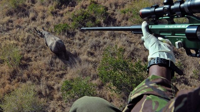 Two poachers in Kenya