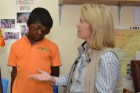 U.S. TV Personality Greta Van Susteren Helps Transform Liberian Boy